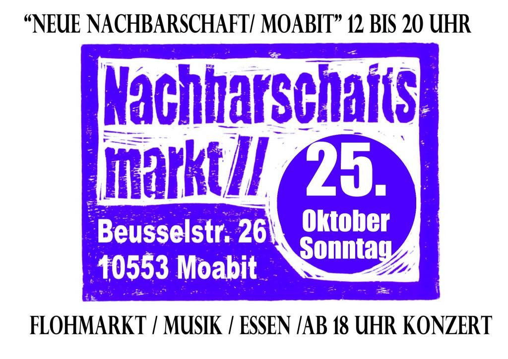 Flyer Nachbarschaftsmarkt 25oktober