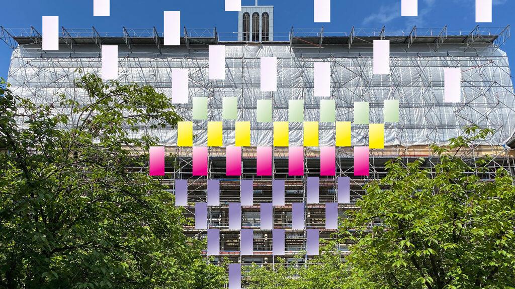 Тhe economy of borders / Ausstellung an der Fassade des Rathauses Tiergarten / 9. Juni, 17 Uhr